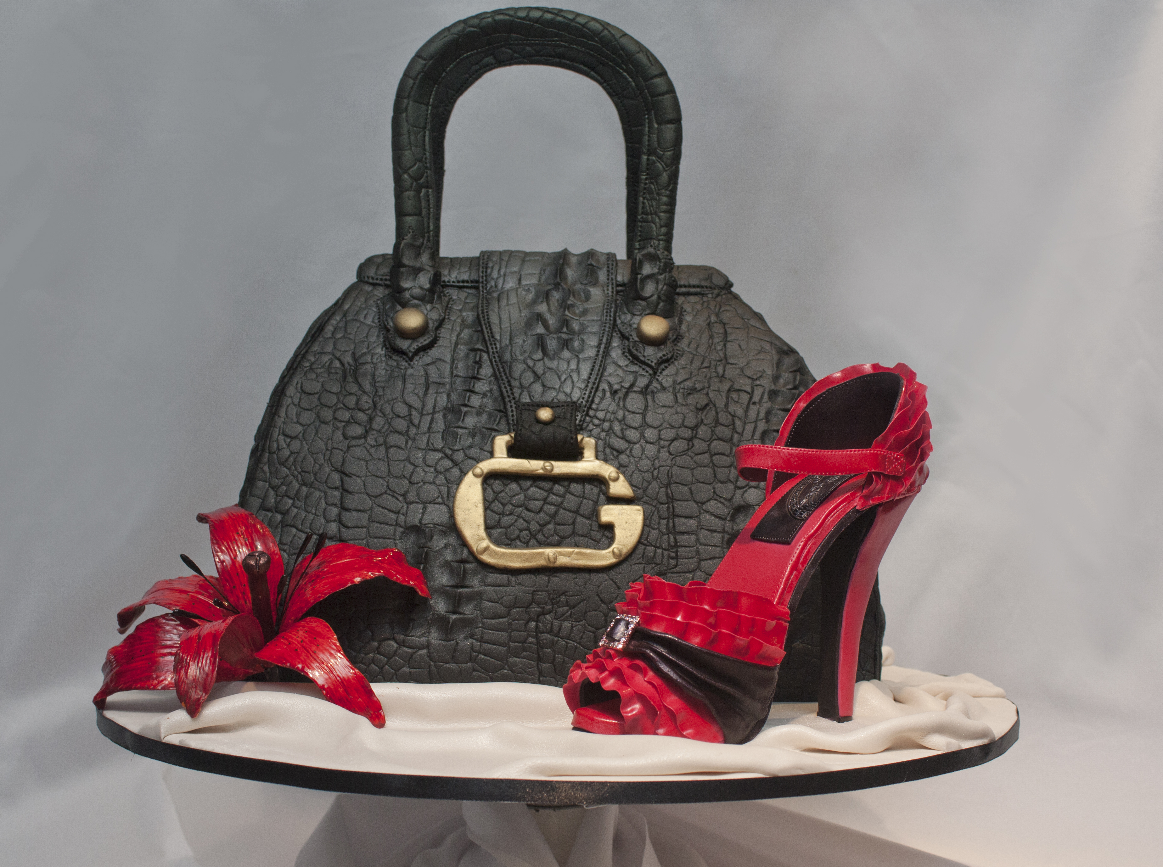 Handbag and stiletto by Jo Orr