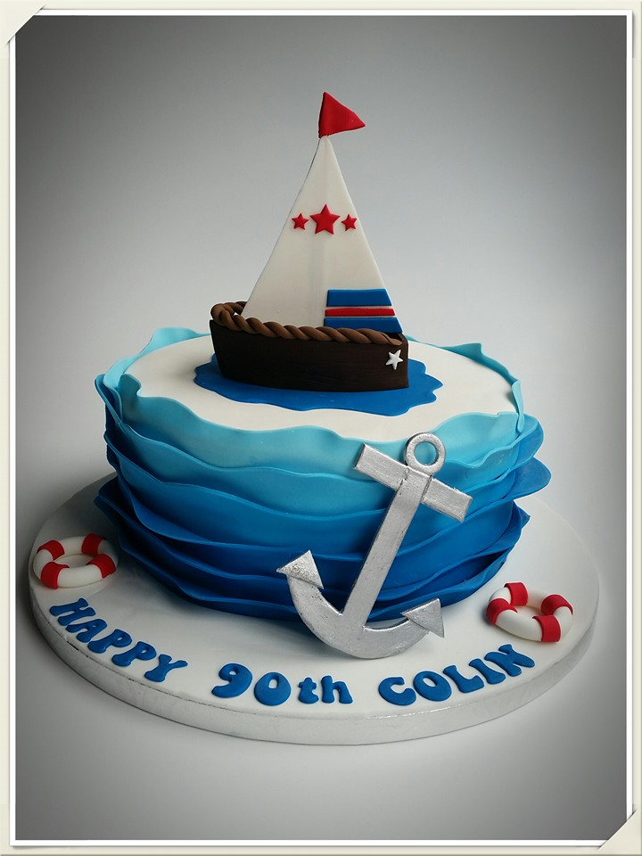 Sailing cake by Maree Kahlenberg