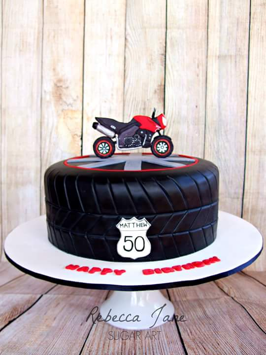 Motorcycle cake by Rebecca Jane