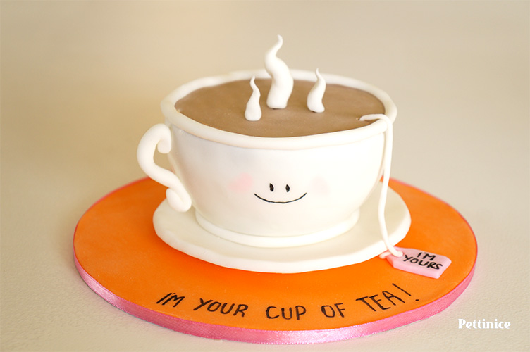 How to make a coffee cup shaped cake
