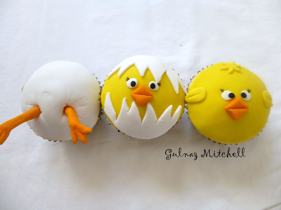 Little chick cupcakes from Heavenlycakes4you by Gulnaz Mitchell