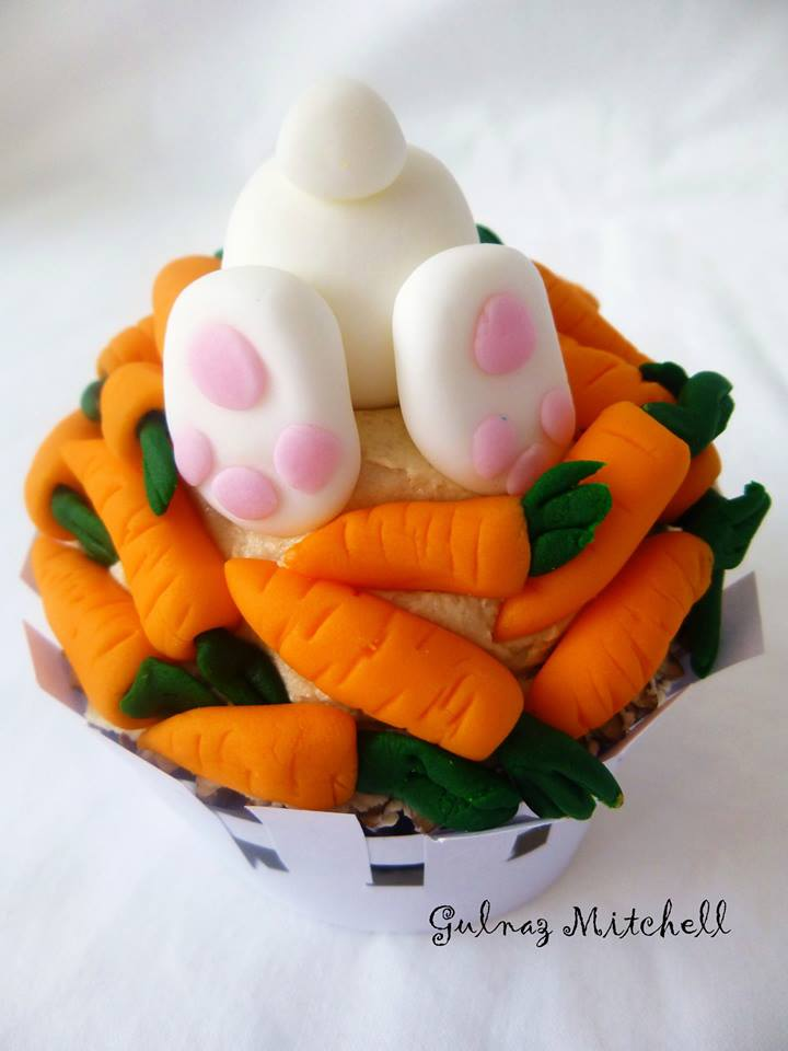 Bunny in carrot cupcakes from Heavenlycakes4you by Gulnaz Mitchell