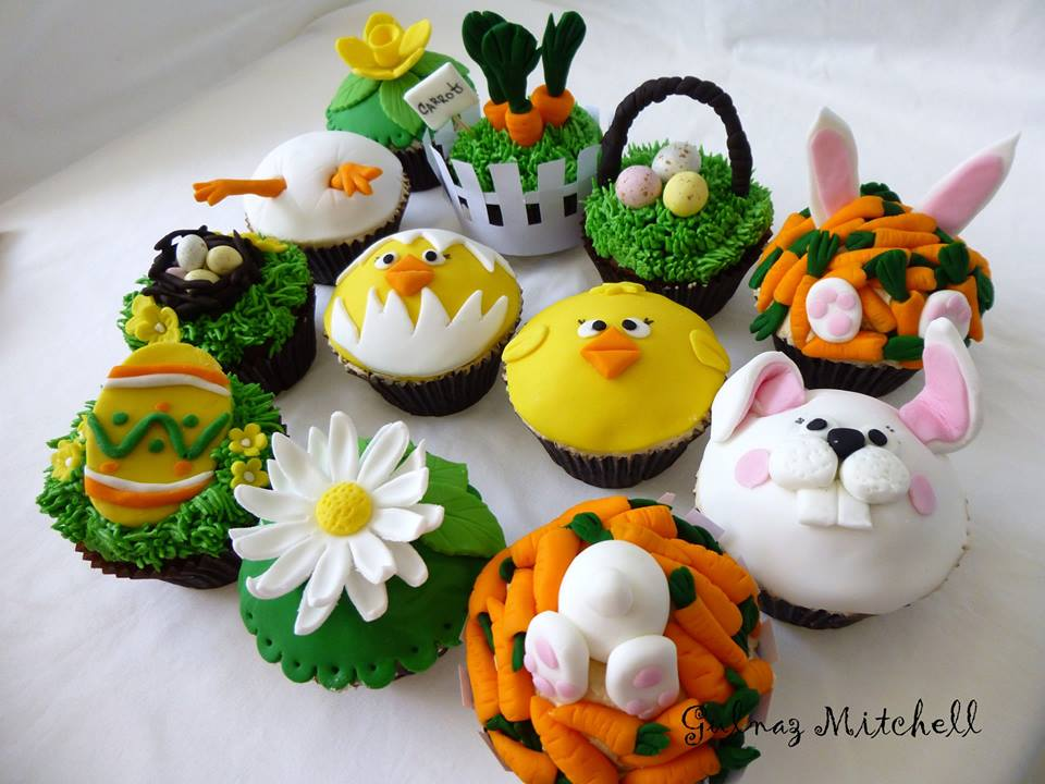 Easter cupcakes from Heavenlycakes4you by Gulnaz Mitchell