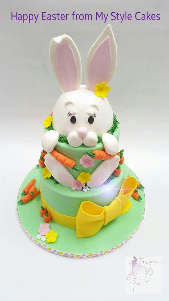 Easter Bunny 2 Tier Cake by Jacqueline Ash - My Style Cakes