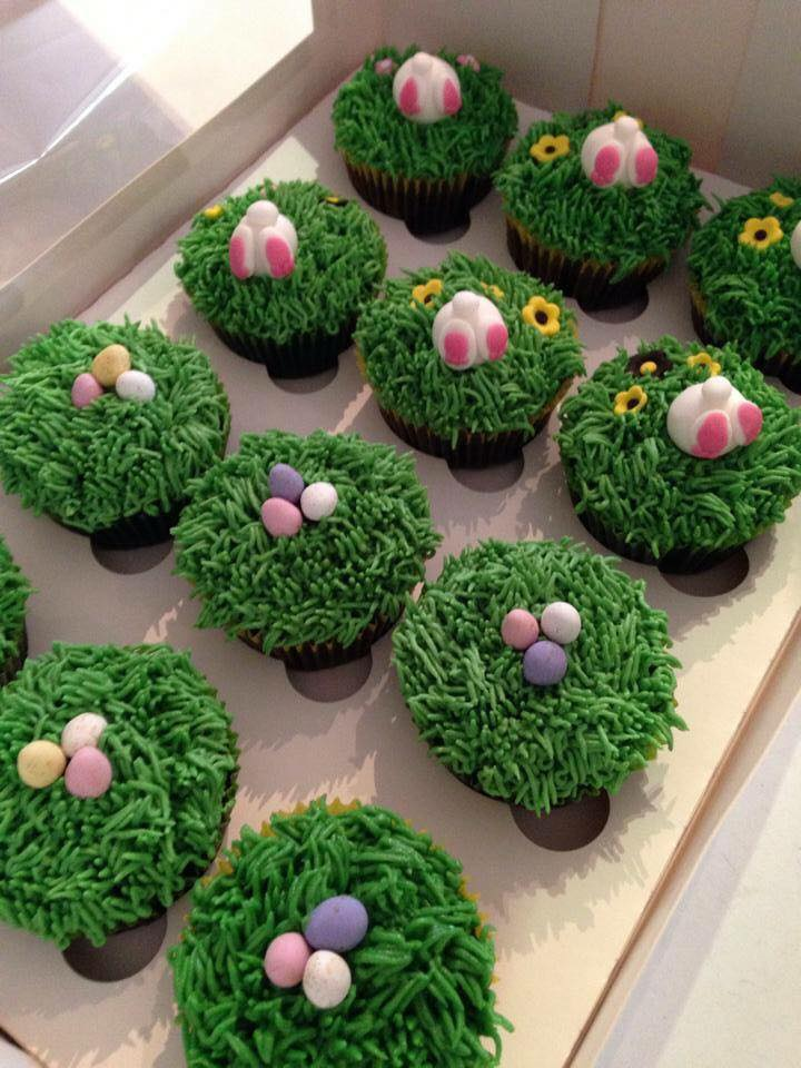 Fondant Easter Egg cupcakes by Fiona Ransfield