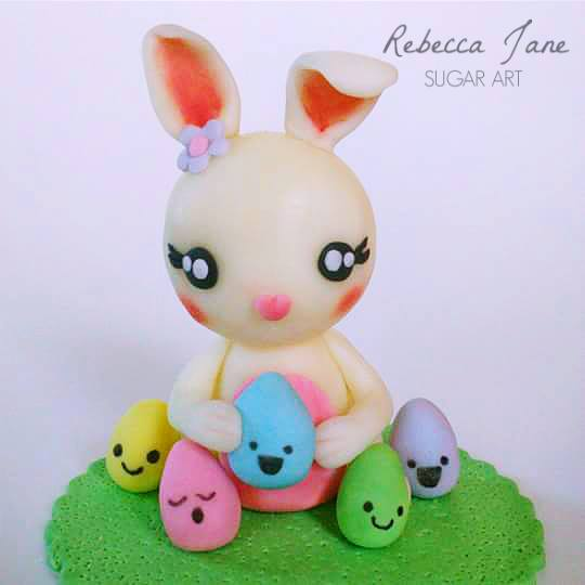 Easter Bunny Cake by Rebecca Dickson - Sugar Art