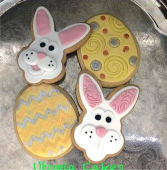 Easter Bunny cookies by Jenn McMillan - Utopia Cakes