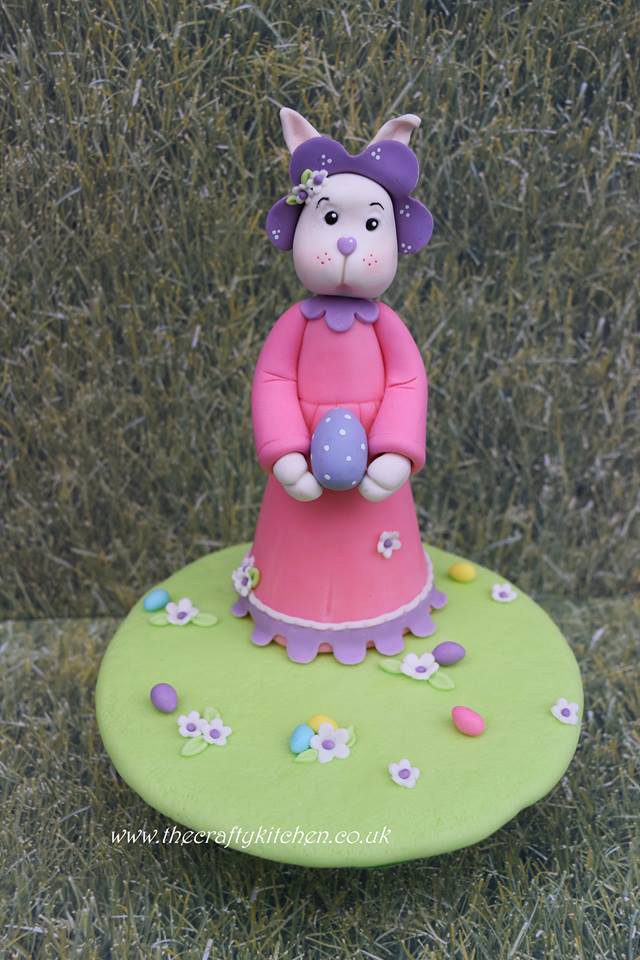 Bunny cake topper by Sarah Garland - The Crafty Kitchen
