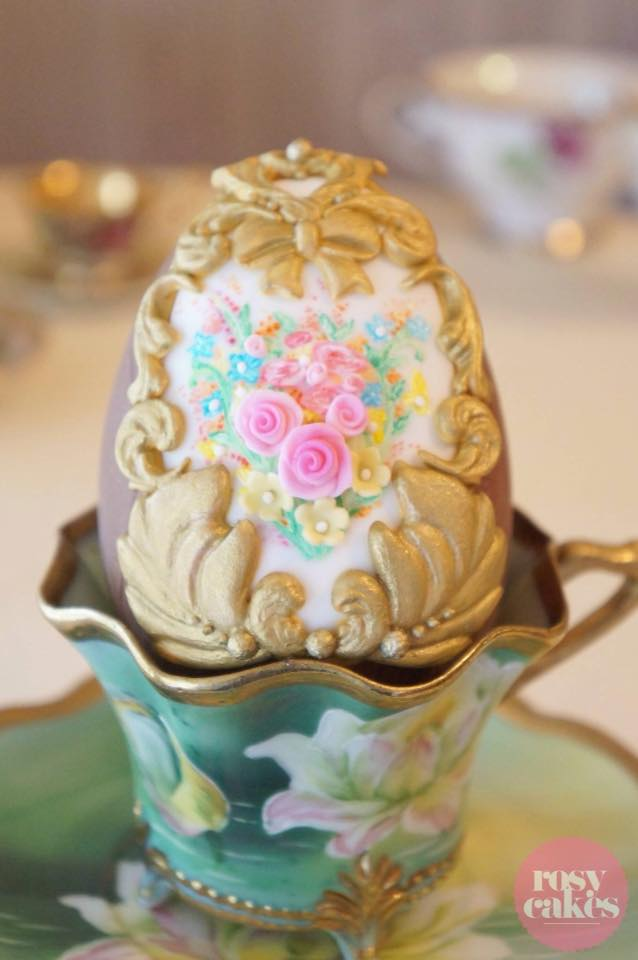 Ornate Easter Egg by Jessica Atkins - Rosy Cakes