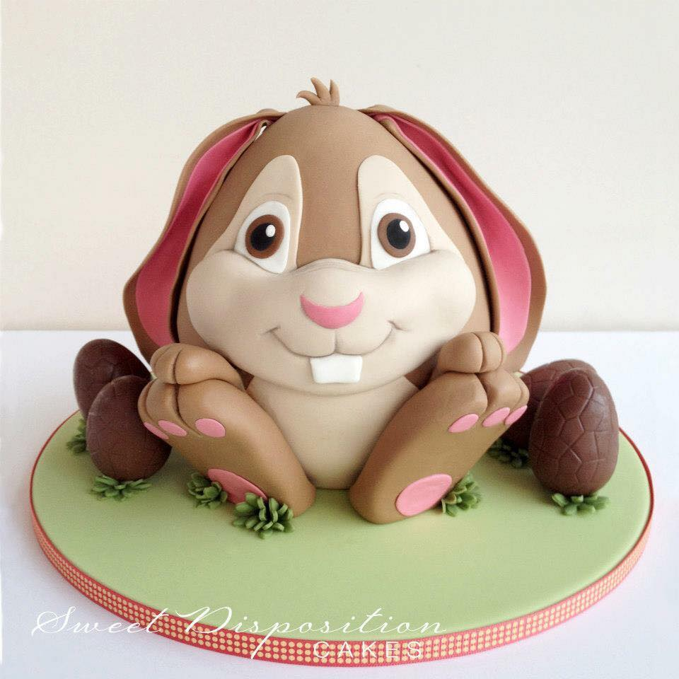 Sitting bunny cake by Lisa Grech-Staehr - Sweet Disposition Cakes