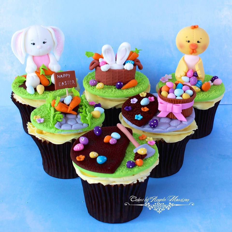 Easter cupcakes by Cakes by Angela Morrison