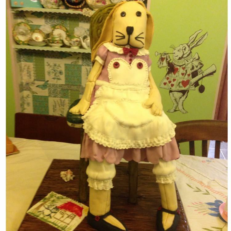 Easter bunny doll by Juliet Schofield - Edna & Ethel's Cake House