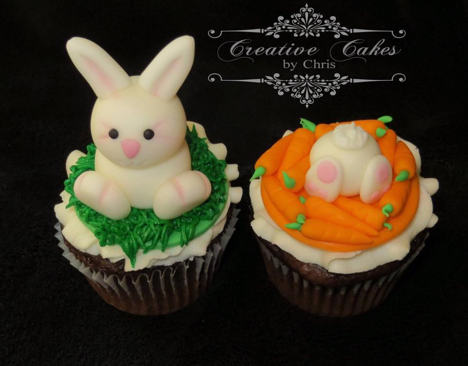 Easter bunny cupcake set by Chris Mougeotte