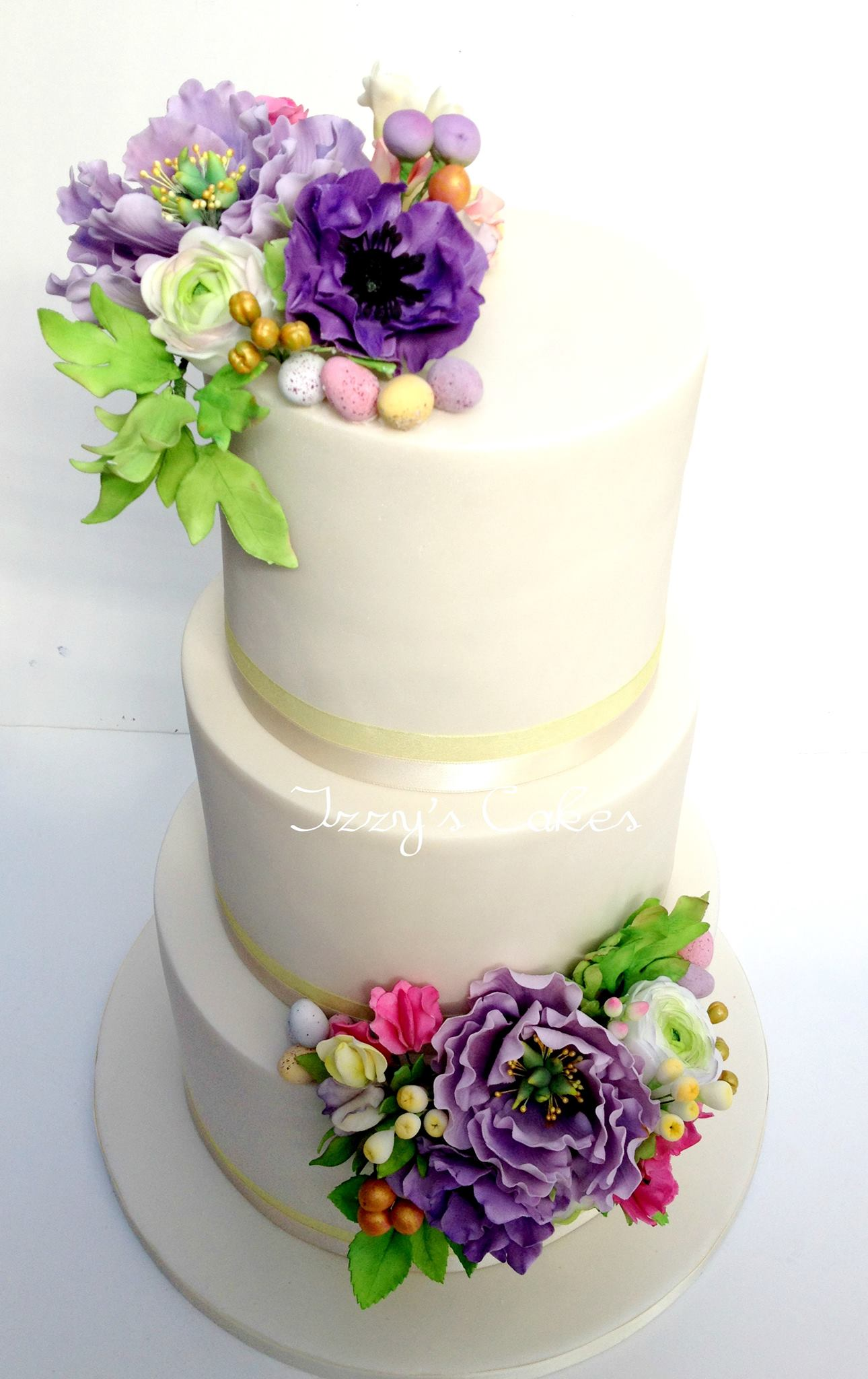 Easter wedding cake by Isabelle Payne - Isabelle's Cake Design