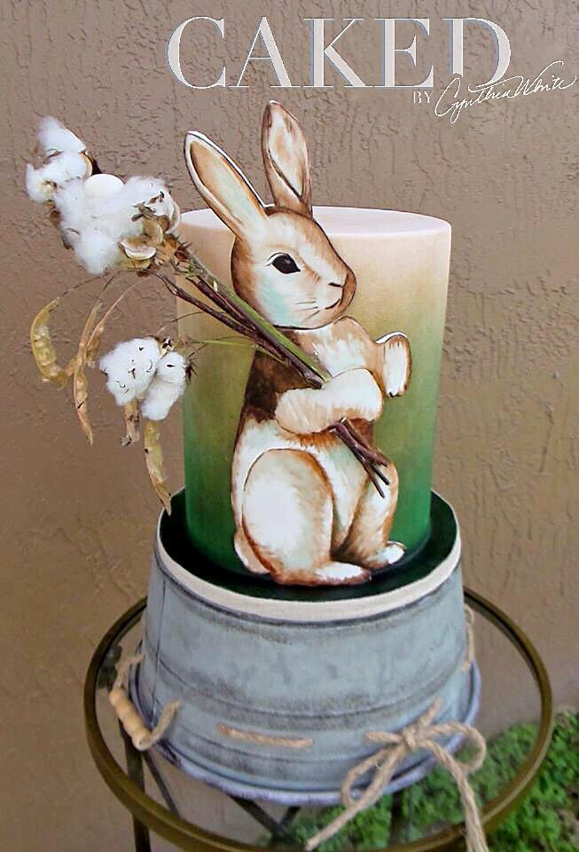 Peter Cottontail Rabbit Cake by Caked by Cynthia Kia White