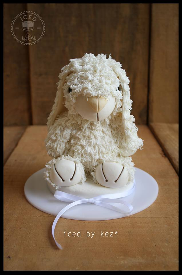White Floppy Bunny Cake by Kez Maxwell - Iced by Kez*