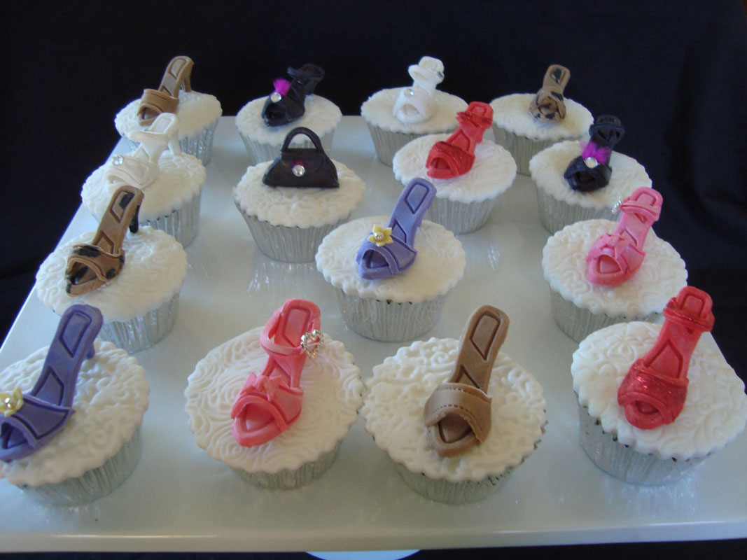 Cupcake high heel shoe toppers by Sally West‎