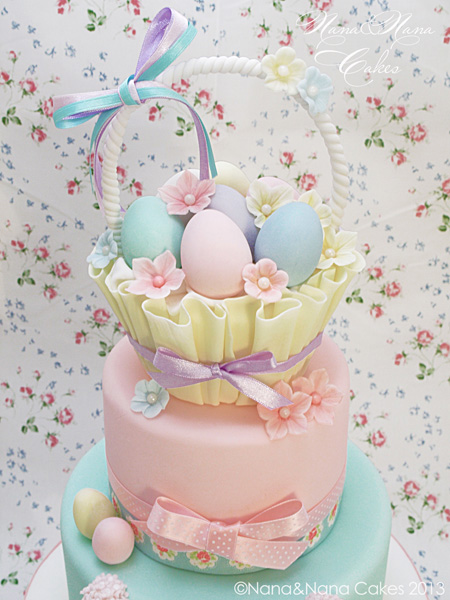 Easter basket tiered cake by Nana & Nana Cakes