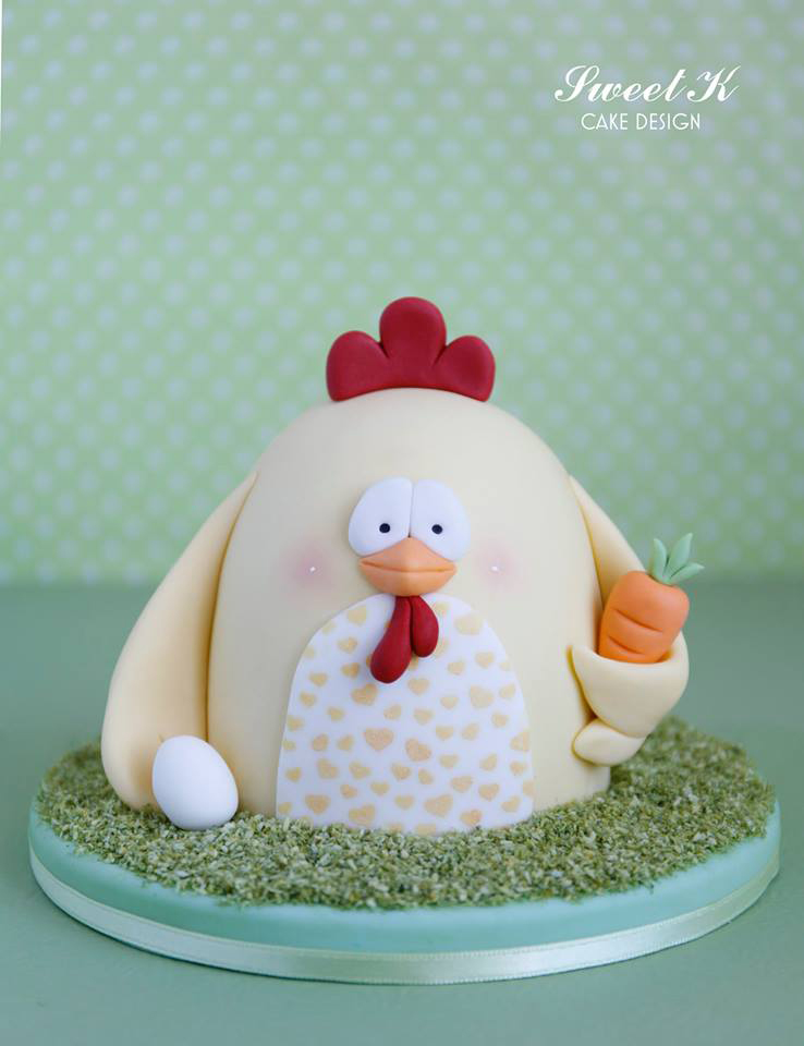Easter chicken by Sweet K cake design