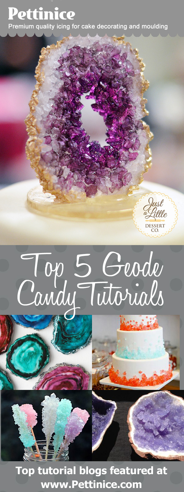 Top 5 geode rock candy tutorials