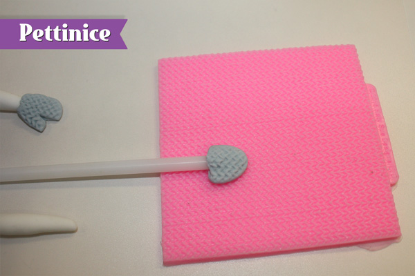 Use a impression mat to simulate knitted effect.
