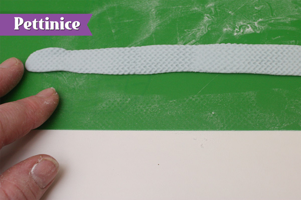 Make a long thin textured ribbon.