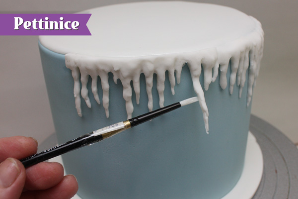 Make sure to attach the lower icicles using water.