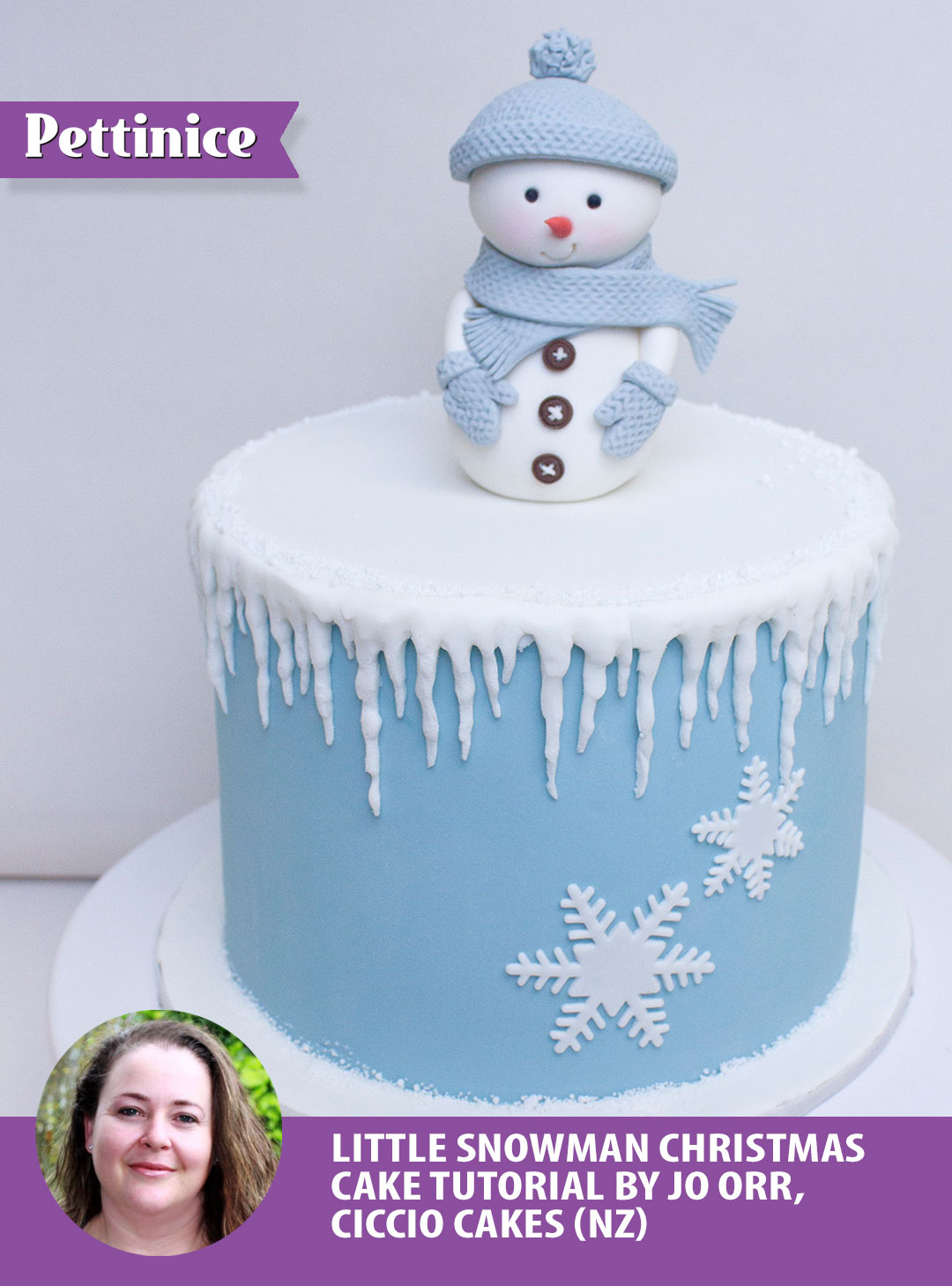 Snowman Cake Tutorial with Jo Orr