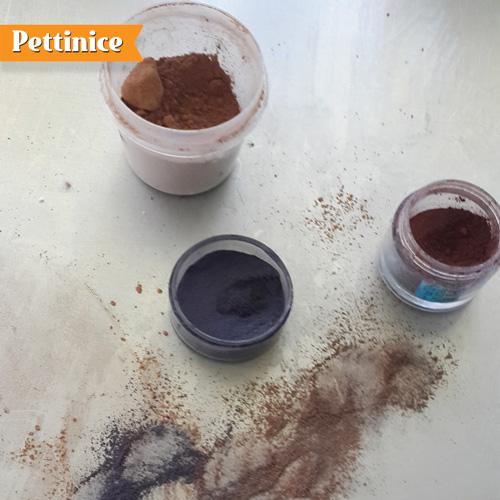 Mix black, brown and cornflour to customize your shade.