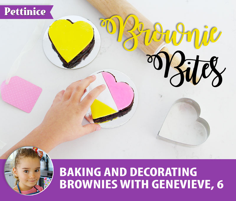 Bake and Decorate Brownies with Genevieve