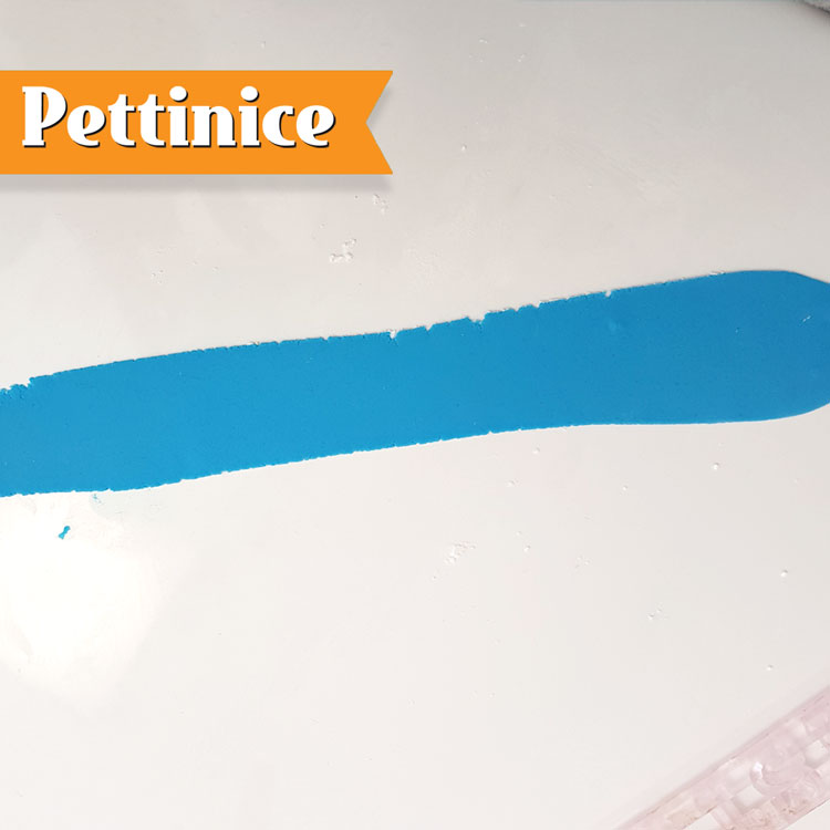 Roll out your fondant in to a thin strip.  Leave to sit for 10 minutes on the bench - very important!
