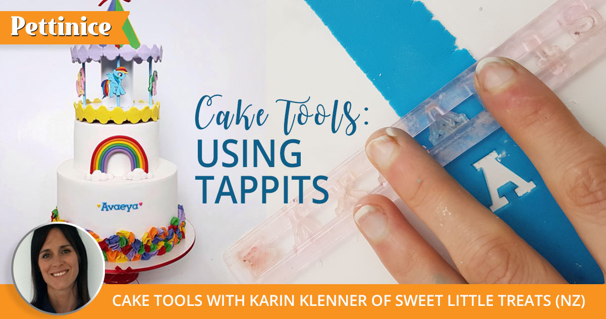 How to use tappits for perfect lettering on your cake