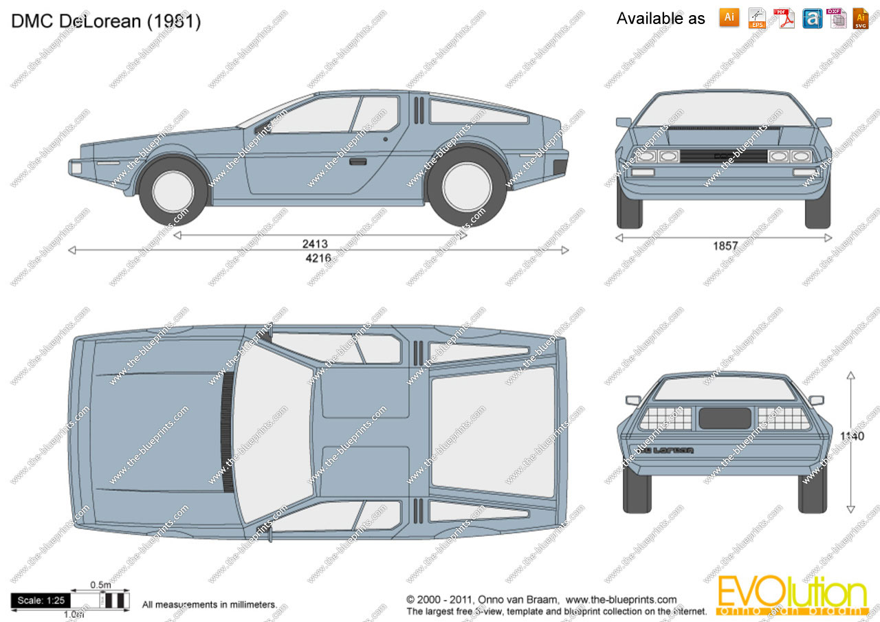 Pettinice | Back to the Future cake DeLorean DMC-12 blueprint