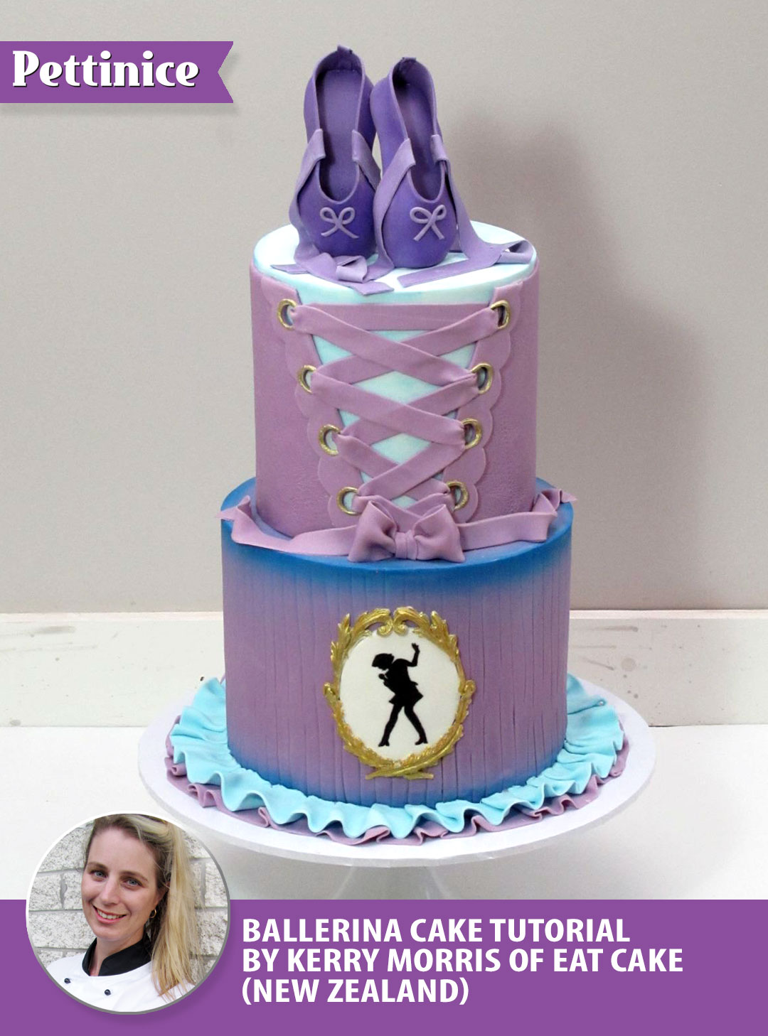 Pettinice Two Tier Ballet Cake Tutorial By Kerry Morris