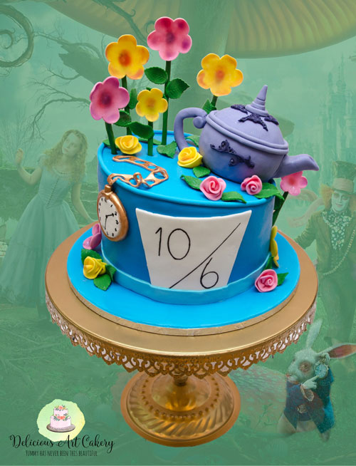 Alice in wonderland cake by Nadine Taylor-Stevens