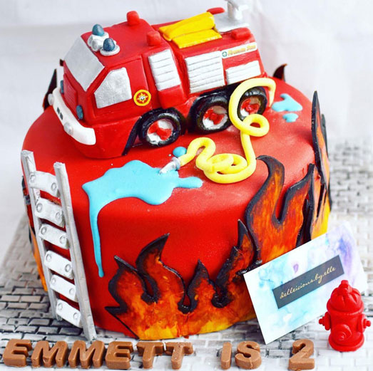 Fire truck cake by Elle West