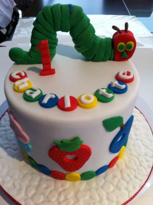 Hungry Caterpillar cake by Rene Schippers
