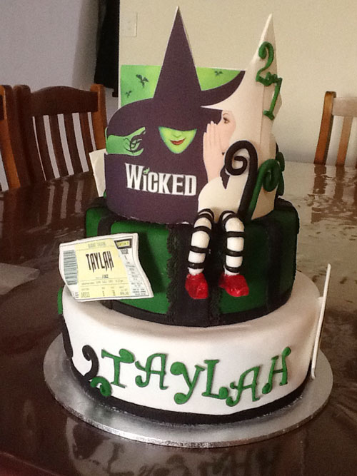 Wicked musical cake by Penny Braddon