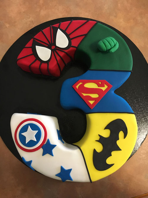 Superhero cake by Lynette Fisher