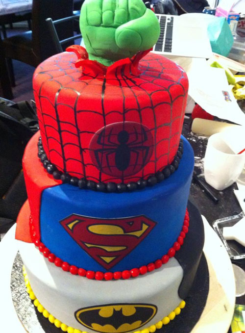 Superhero cake by Rene Schippers