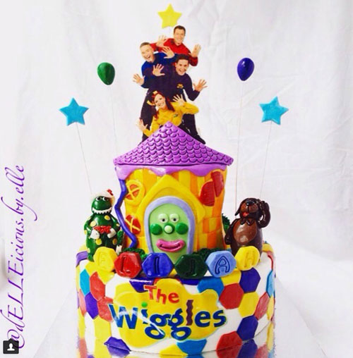 Wiggles theme cake by Elle West