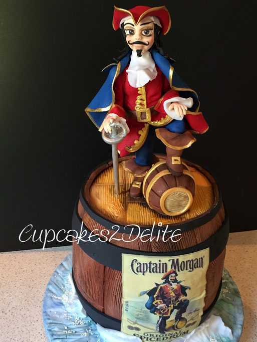 Captain Morgan Cake & Figurine by Lisa Cunningham