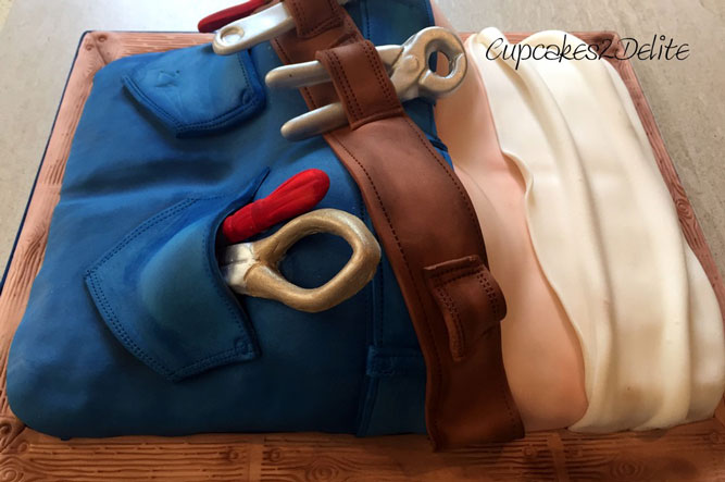Tool belt cake by Lisa Cunningham