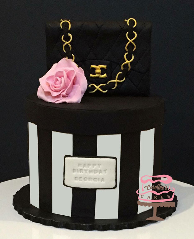 Handbag topper cake by Caroline Lloyd