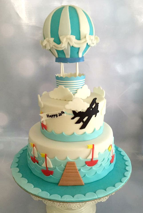 Hot air balloon cake by Donna