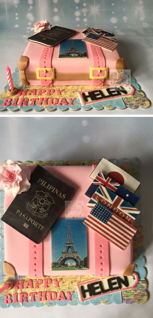 Suitcase cake by Donna