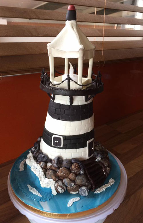 Lighthouse cake by Davarre Mckenzie