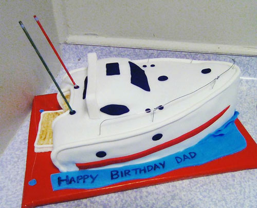 Speed boat cake by Melissa Gawn