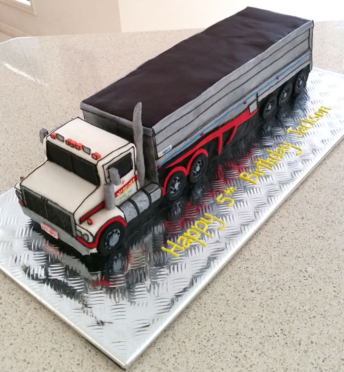 Semitruck cake by Carolyn Elder