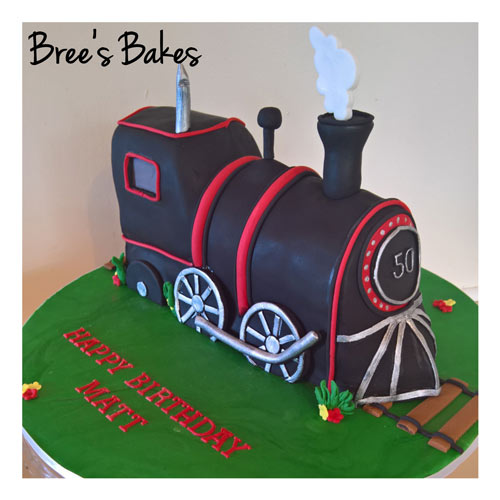 Steam train cake by Bree Harris